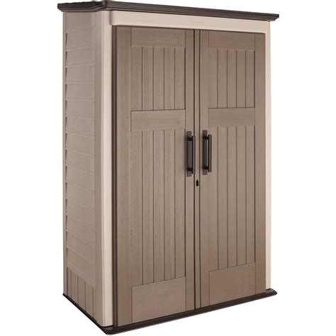 rubbermaid garden tool storage shed rubbermaid 1887157 vertical outdoor storage shed all the