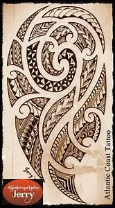 polynesian maori samoan tattoo design drawing by ...
