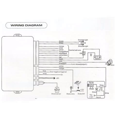 Car Alarm Wiring Diagram Product by Universal 1 Way Car Security Alarm System W 2 Key Remote