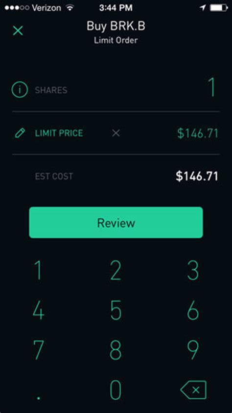 robinhood app review  stock trades  options