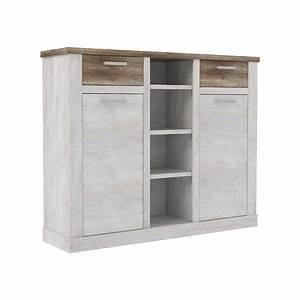 meuble de rangement 2 portes 2 tiroirs 4 niches duro salle With salle À manger contemporaineavec rangement salle a manger