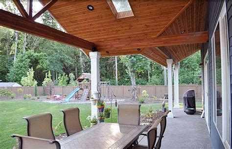 patio cover with skylight outdoor