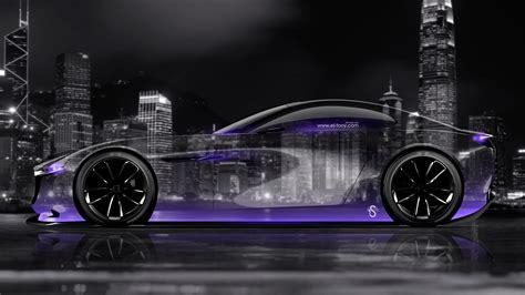 Mazda Rx Vision Concept Side Crystal City Night Car 2015