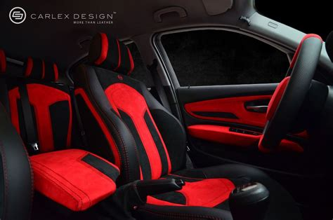 bmw  series red  black interior  carlex autoevolution
