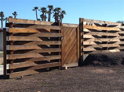 modern woven wood fence gates fences   exterieur