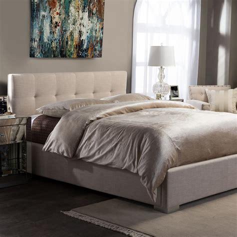 baxton studio king bed baxton studio regata beige king upholstered bed 28862 6692