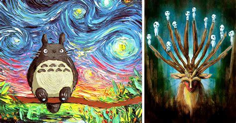 studio ghibli inspired paintings   spirit