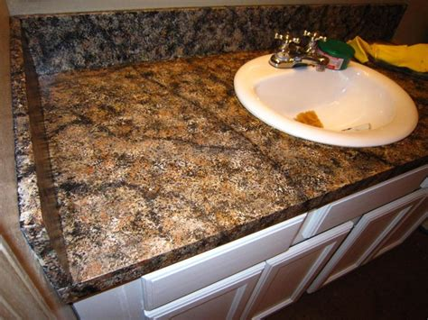 Imitation Granite Countertops by Diy Faux Granite Countertop Without A Kit For 60