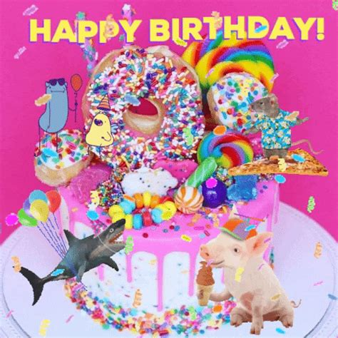 happy birthday gifs find share  giphy