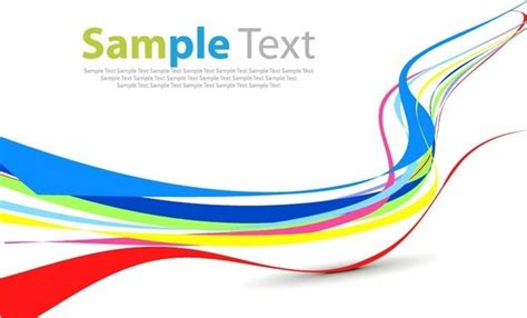 Abstract Shapes Curve by Colorful Curve Abstract Background Yellow Blue Free