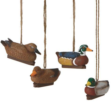 duck decoy hunting christmas ornaments set