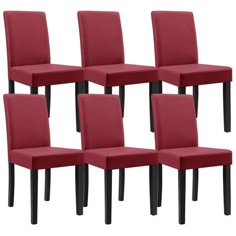 chaise de bureau ergonomique dos 8 chaises en simili cuir pieds en bois pour toutes