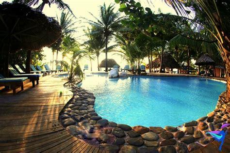 kitchen island with chairs xanadu island resort san pedro belize the legendary