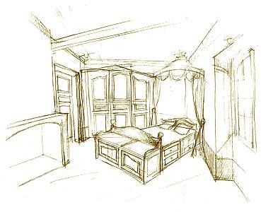 croquis chambre croquis esquisse dessin d 39 une chambre