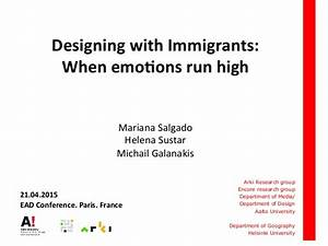 Designing with Immigrants. When emotions run high