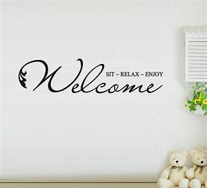 Wall sticker quotes free shipping welcome to our home