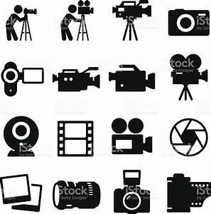 Camera Icons Black Series stock vector art 481968677 | iStock