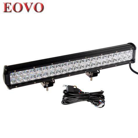 20 inch 126w cree led work light bar wiring kit for