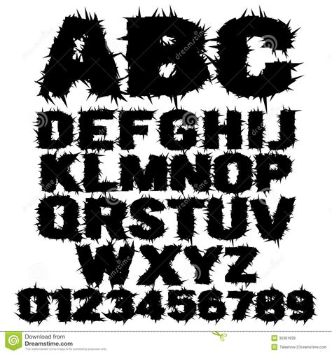 printable scary letters printableecom