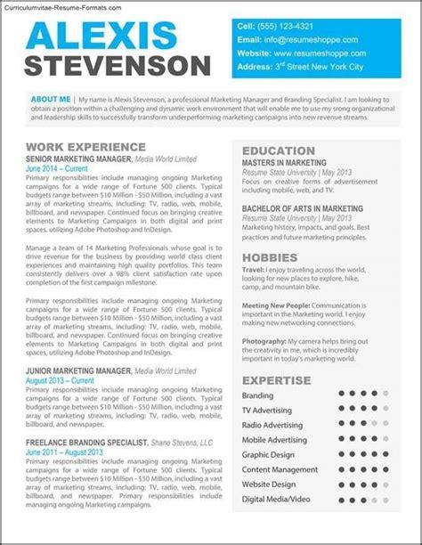 Creative Professional Resume Templates  Free Samples