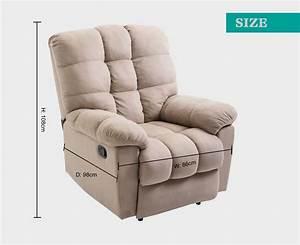 Manual Reclining Single Lazy Boy Fabric Motion Sofa Brc