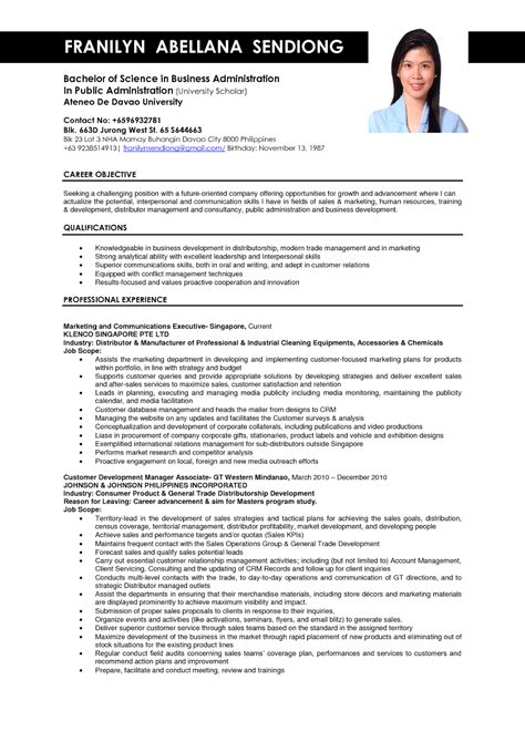 Business Resume Template Free by Business Administration Resume Sles Sle Resumes