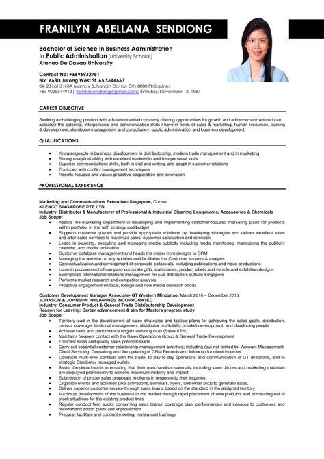 Resume Resume Template business administration resume sles sle resumes