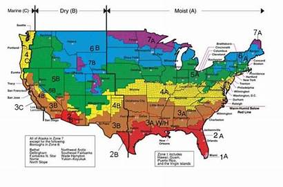 Climate Zone Zones Map Heating Cooling Insulation