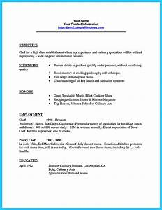 Great Sample Resume Excellent Culinary Resume Samples To Help You Approved