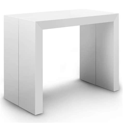 table console extensible raph blanc laqu 233 design et 233 l 233 gant tooshopping