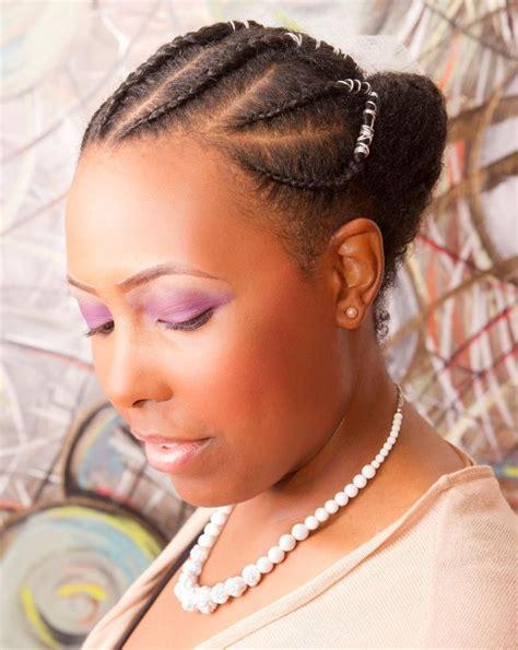 cornrow styles for women natural updo black women