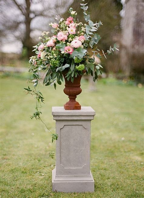pin  blush pink   wedding ceremony decor