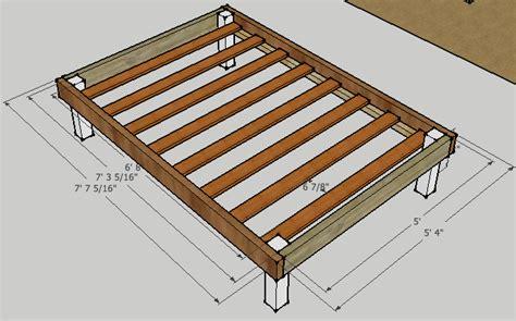 simple queen bed frame  luckysawdust  lumberjocks