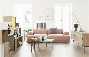 Canapé Scandinave Rose : design scandinave 49 salons avec d coration scandinave decoration salon ~ Teatrodelosmanantiales.com Idées de Décoration