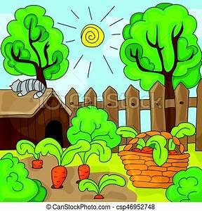 Jardin Dessin Couleur : carottes vecteur jardin illustration dessin anim ~ Melissatoandfro.com Idées de Décoration
