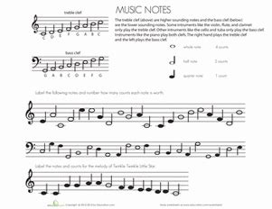 worksheets for learning to read music learning to read music worksheet education com