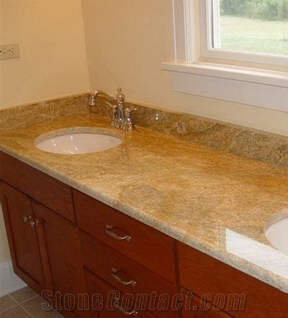 Yellow Bathroom Vanity Tops by India Imperial Gold Dust Granite Custom Vanity Tops New
