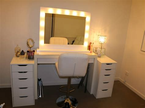 Dressing table mirror lights light up mirror makeup tags