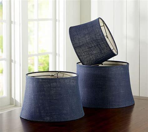pottery barn burlap l shade burlap upholstered tapered drum l shade navy gray