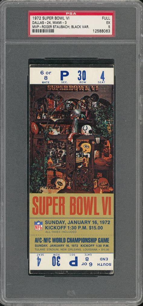 Lot Detail 1972 Super Bowl Vi Full Ticket Rare Black