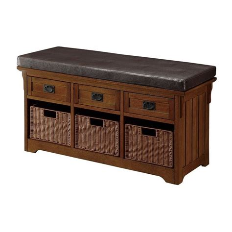 Small Upholstered Storage Bench by Coaster Small Storage Bench With Upholstered Seat 501061