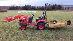 Kubota Tractor with Brush Hog
