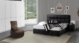 Komplett schlafzimmer mit kunstleder boxspringbett athen for Komplett schlafzimmer mit boxspringbett
