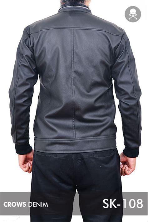 jual jaket pria casual kulit sintesis model korean sk