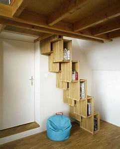 Stair Case Transformed Into a Book Case - Freshome com