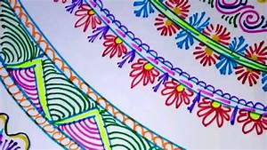 Easy simple and attractive border designs|| project file ...