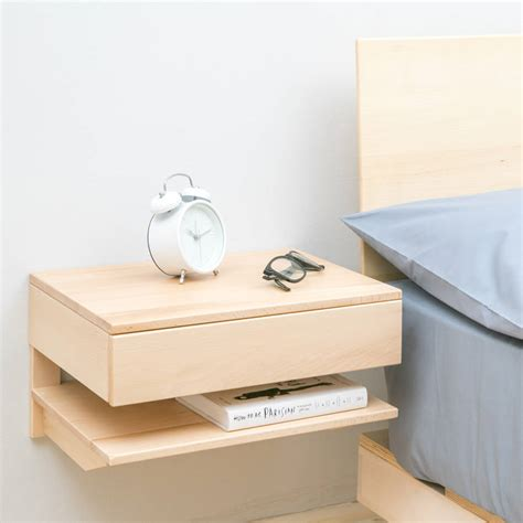 floating tables floating bedside table with drawer and shelf by urbansize