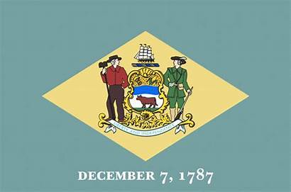 State Flag Delaware Flags Current Together Its