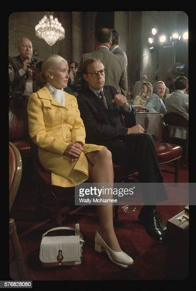 dean maureen john wife watergate former counsel waiting hearing sits senate gettyimages committee getty