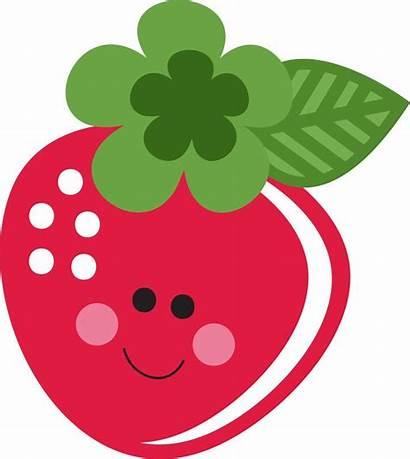 Strawberry Clip Strawberries Cliparts Clipart Shortcake Fresa